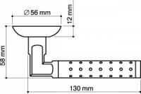 Ручка Eridan Armadillo матовый никель/хром для межкомнатных дверей