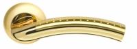 Ручка межкомнатная на розетке Libra Армадилло золото/матовое золото