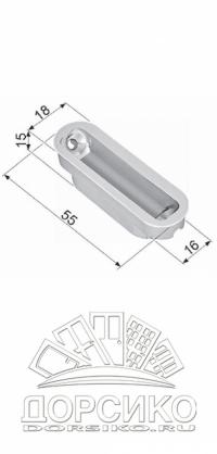 Планка ответная Minimal для межкомнатных замков AGB Mediana Polaris — хром матовый