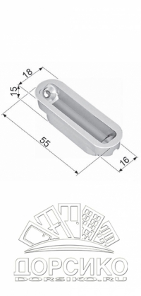 Планка ответная для магнитных замков AGB Mediana Polaris — Minimal полированный никель