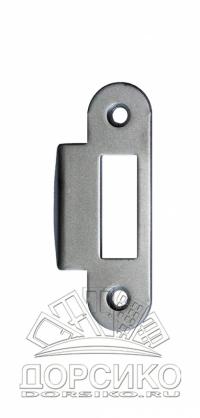 Ответная часть для дверных замков AGB серии Mediana Evolution — матовый хром