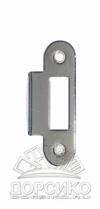 Ответная часть для дверных замков AGB серии Mediana Evolution — никель полированный