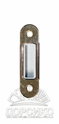 Ответная планка для дверных замков AGB серии Mediana Polaris и Evolution — никель полированный