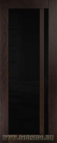Дверь межкомнатная из массива ясеня со стеклом Альбани Блюм Индастри английский орех