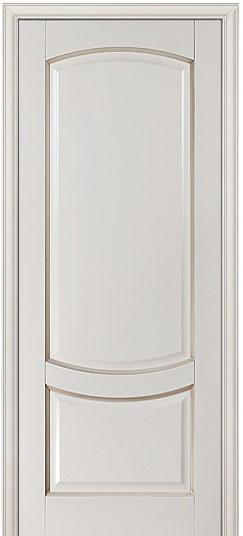 Крашенная дверь из массива бука - Белинский, бисквит с патиной мокко