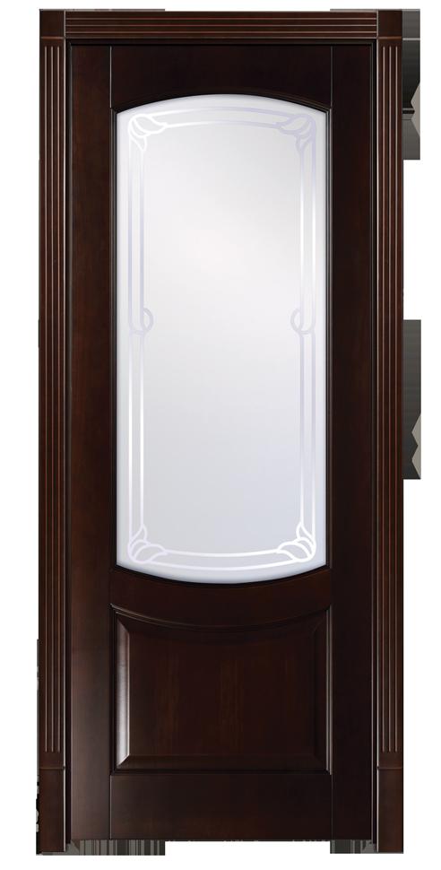 ПО Белинский - дверь из клеенного массива бука со стеклом