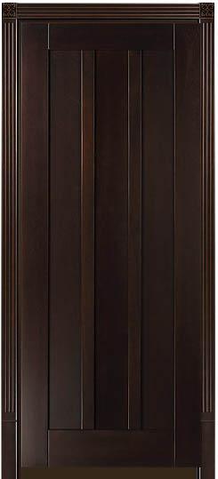 Буковая дверь массив в стиле модерн Лермонтов с тонировкой Грецкий Орех