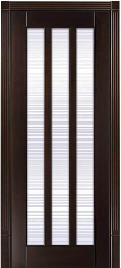 ПО Лермонтов - дверь с растикловкой из массива ценных пород - Бук