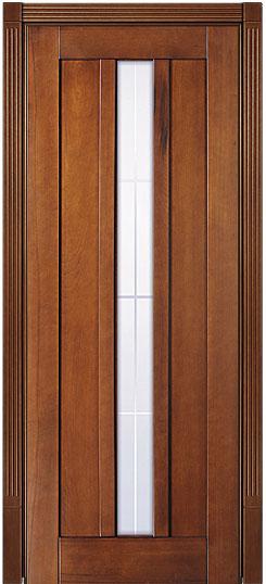 Остекленная дверь из массива Лермонтов - Светлый Дуб