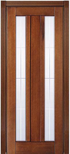 Дверь в стиле модерн - Лермонтов Светлый дуб - натуральный массив бука