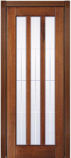 Буковая остекленная дверь из массива Лермонтов