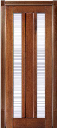 Буковое дверное полотно с растекловкой из закаленного стекла Лермонтов