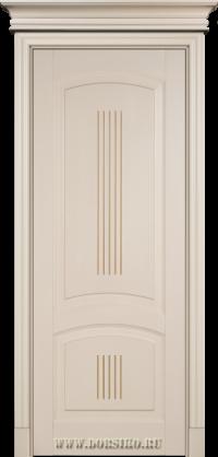 Крашенная эмалью буковая дверь Вагнер Бисквит с патиной мокко