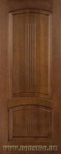 Глухая дверь межкомнатная из массива дерева бука Бетховен в цвете Светлый дуб BLUM Industry