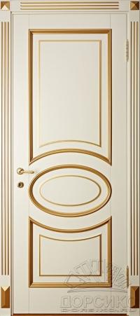 Капри — дверь крашенная из массива березы с золотой патиной