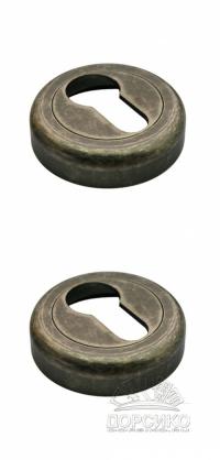 Специальная накладка LUXURY античное железо на цилиндр межкомнатного замка