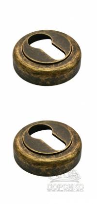 Специальная накладка LUXURY бронза антик на цилиндр межкомнатного замка