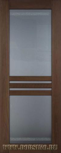 Деревянная дверь Данте из массива бука в тонировке Сахара Блюм Индастри