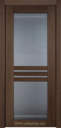 Данте - дверь из массива бука в современном стиле модерн под лаком Хессе и в мягкой тонировке Сахара