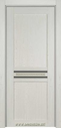 Дверь из массива ясеня белого цвета с патиной фисташка