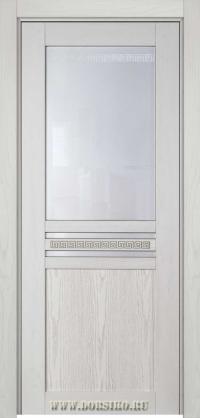 Межкомнатная крашенная дверь из массива ясеня Данте белая с фисташкой Blum Industry