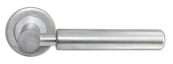 Латунная хромированная ручка на тонкой розетке CLOUD Luxury Morelli для дверей деревянных
