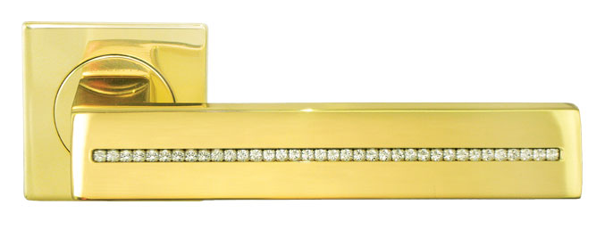 Ручка межкомнатная из латуни DIADEMA Luxury Morelli с кристаллами SWAROVSKI