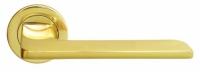 Дверная ручка из латуни ROCK Luxury Morelli цвет золото на круглой розетке