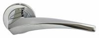 Дверная ручка из латуни WIND матовый хром Luxury Morelli