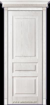 Дверь из массива ясеня с тремя филенками Дюма