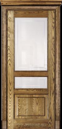 Дверь с тремя филенками из массива ясеня Дюма