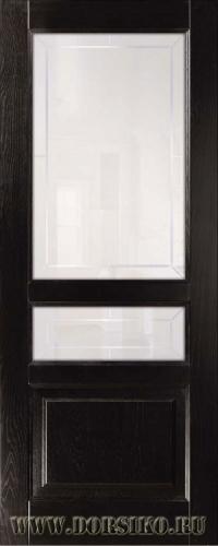 Остекленная дверь межкомнатная из массива ясеня Дюма в цвете Шервуд Блюм Индастри