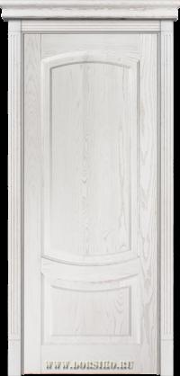 Филенчатая белая дверь из массива ясеня Гёте
