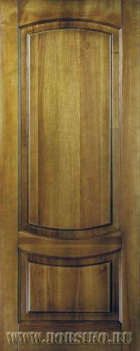 Межкомнатная дверь из ясеня массива с древесными узорами Гёте Blum Industry Золотой орех