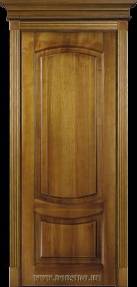Гёте в тонировке Золотой Орех межкомнатная ясеневая дверь из массива