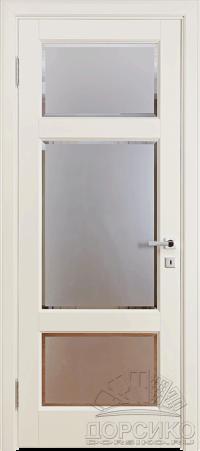 Кама — белая крашеная по Ral дверь из березы массив