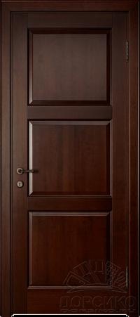 Камея — межкомнатная дверь из ольхи или дуба массив - Орех