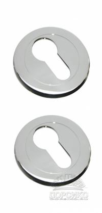 Специальная накладка LUXURY полированный хром на цилиндр дверного замка