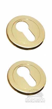Специальная накладка LUXURY золотого цвета на цилиндр дверного замка
