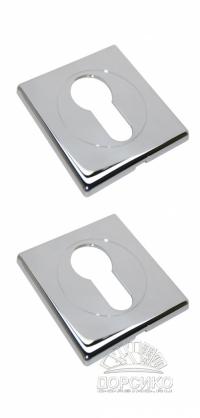 Специальная квадратная накладка на цилиндр дверного замка LUXURY хром