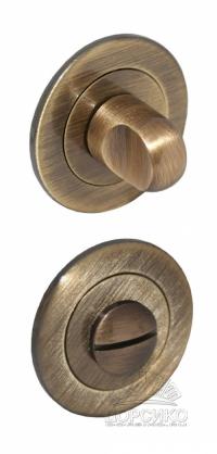 Сантехническая завертка круглая цвета Кофе для дверных ручек серии Luxury