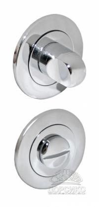 Сантехническая круглая завертка полированный хром для дверных ручек серии Luxury