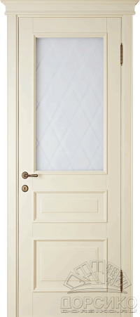 Леон — белая крашенная дверь из березы