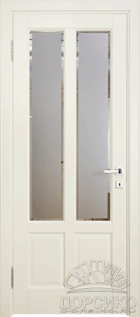 Лира — березовая дверь из массива со стеклом