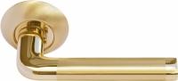 Дверная межкомнатная ручка MH-03 SG/GP Morelli матовое золото/золото