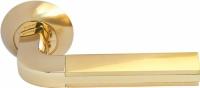 Межкомнатная ручка Морелли MH-11 SG/GP матовое и глянцевое золото для дверей деревянных