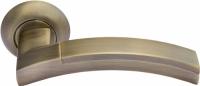 Ручка дверная Морелли MH-12 MAB/AB матовая античная бронза/античная бронза