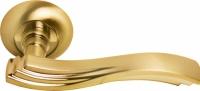 Дверная межкомнатная ручка MH-14 SG/GP Morelli золото/матовое золото