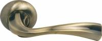 Межкомнатная ручка Морелли MH-15 MAB матовая и античная бронза для дверей деревянных