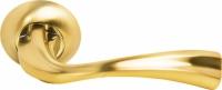 Межкомнатная ручка Морелли MH-15 SG/GP матовое и глянцевое золото для дверей деревянных